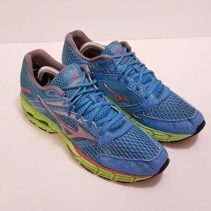 Mizuno Wave Inspire 9 Sz 10.5 Blue/Green Sneakers